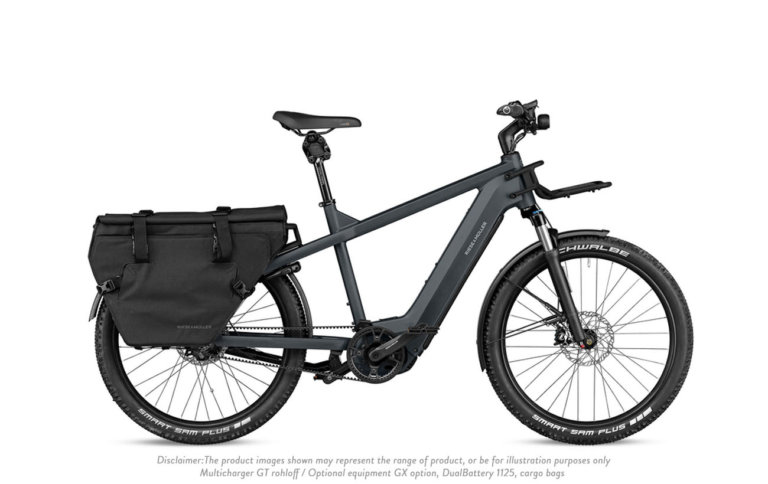 Riese and Muller Multicharger GT Rohloff Utility Grey Black Matt - Propel Electric Bikes
