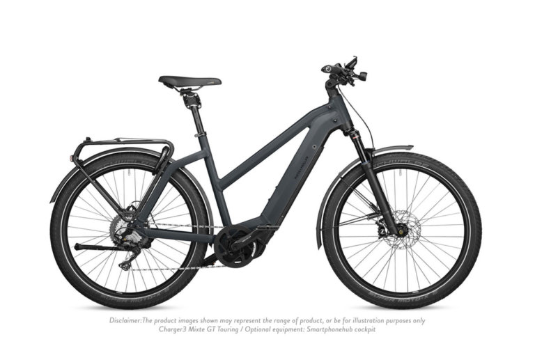 Riese and Muller Charger 3 Mixte GT Touring Storm Blue Matt - Propel Electric Bikes