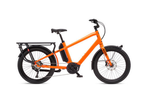 Benno Boost E 10D Neon Orange Longtail Cargo E-Bike - Propel Electric Bikes