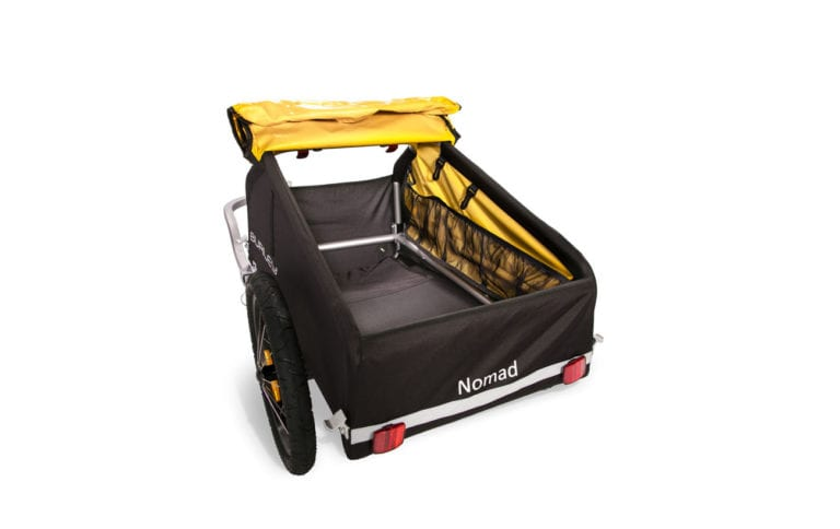 Shop Burley Nomad Cargo Bike Trailer - Yellow - Propel E-Bikes