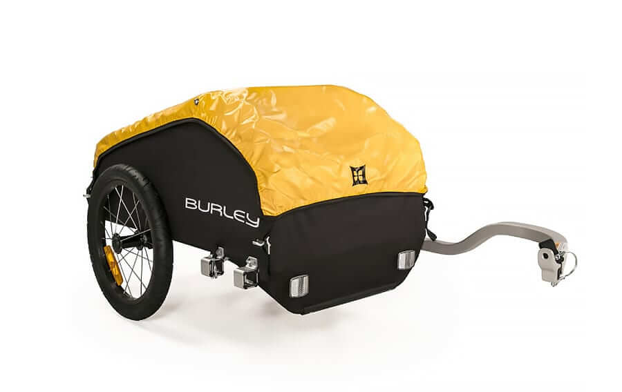 Designed specifically for touring, the Nomad encourages comfortable wanderlust with its large carrying capacity and weatherproof cover. It attaches quickly and easily, has a balance point designed to reduce torque on the bike and features a hitch that is, Burley Nomad Trailer