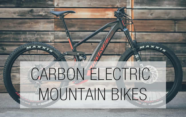 Carbon Electric Mountain Bikes