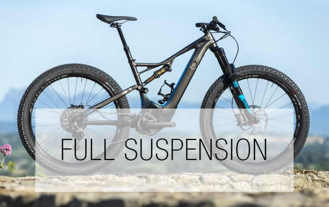 Full Suspension Electric Mountain Bikes