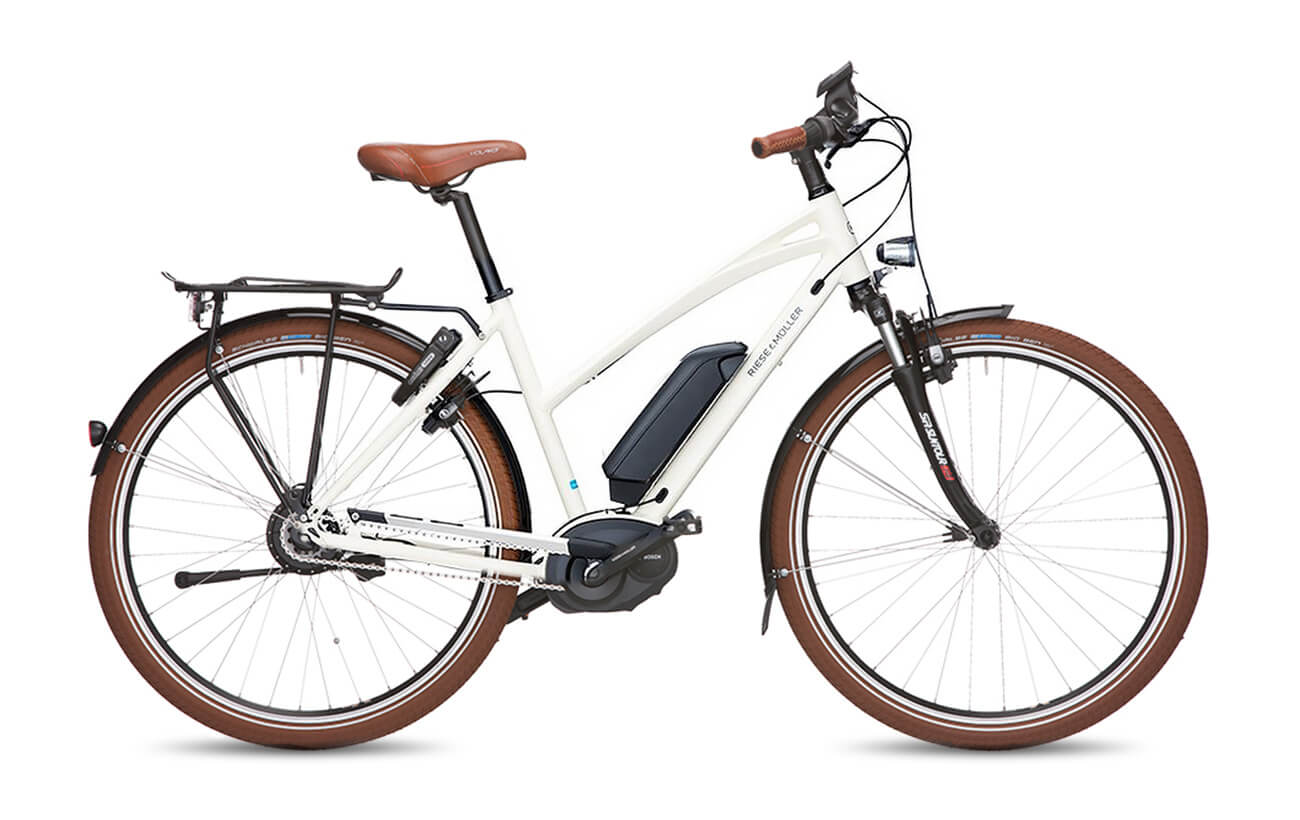 Riese & Muller Cruiser Mixte NuVinci Electric Bike White