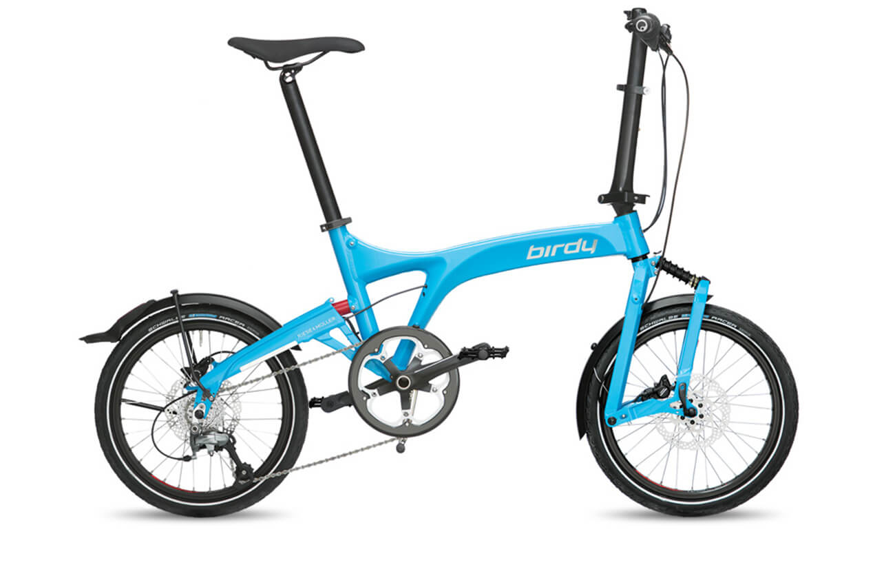 Riese & Muller Birdy Speed Cyan folding bike