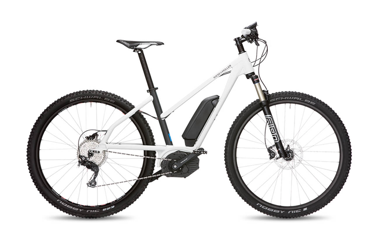 Riese & Muller Charger Mixte Mountain Electric Bike White