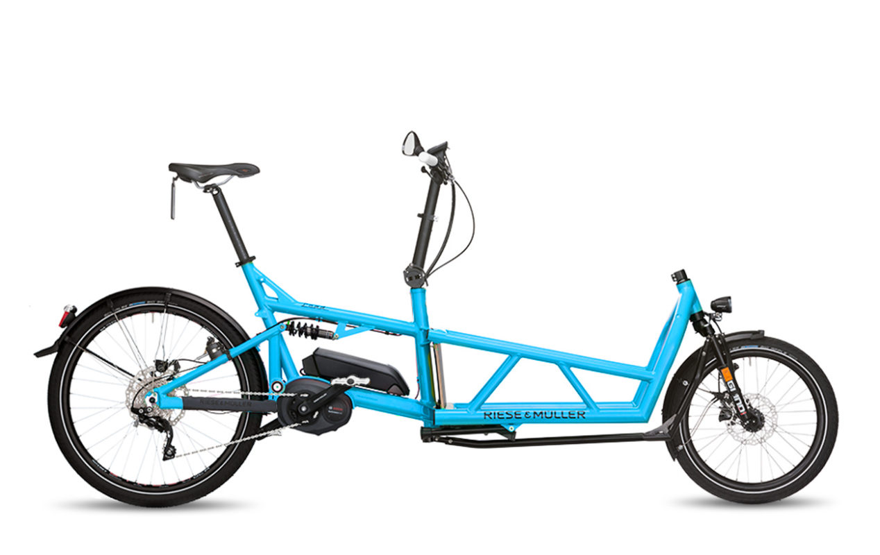 Riese & Muller Load touring HS Cyan white