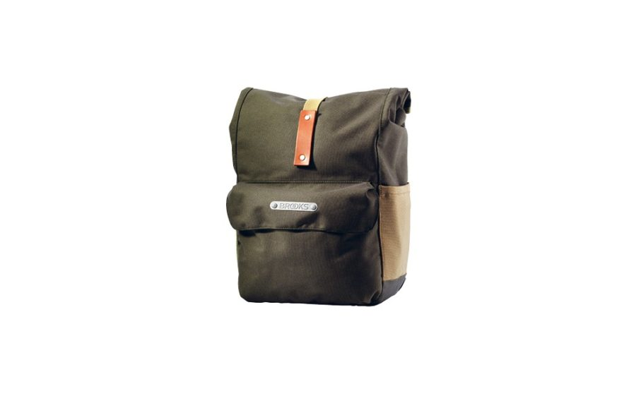 Brooks Norfolk Front Travel Panniers Green