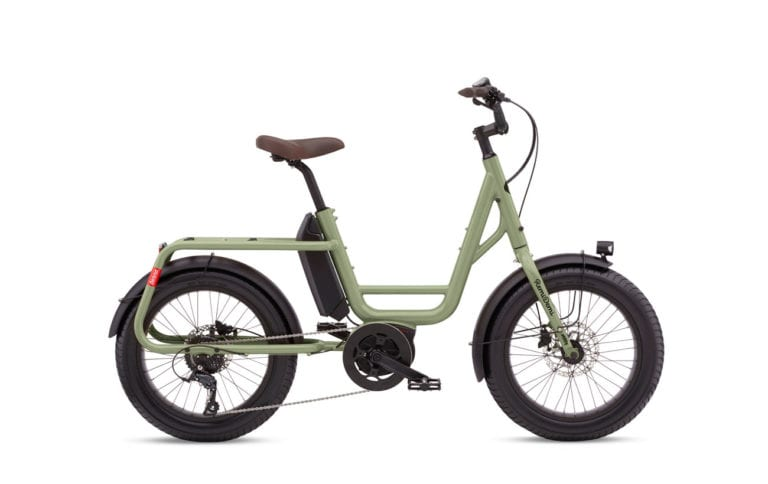 Benno RemiDemi 9D Olive Green Step Through Mini BIke - Propel Electric Bikes
