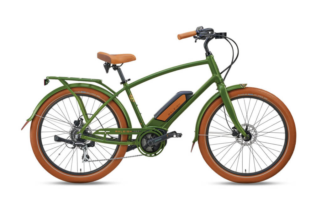 Raleigh Retroglide Royale iE Step-Over Olive Green