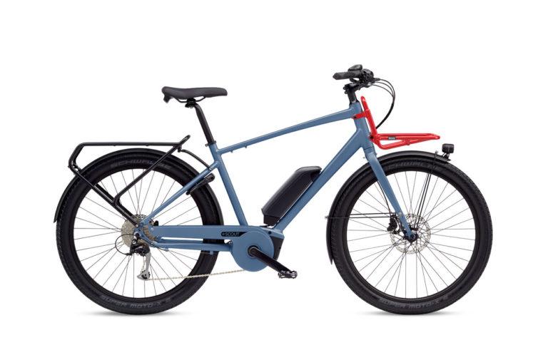 Benno eScout 10D Alaska Blue w Tray 2020 - Propel Electric Bikes