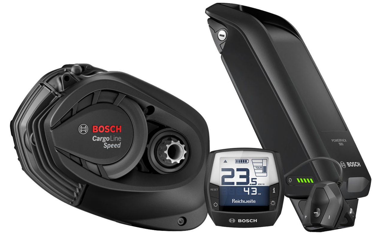 Bosch Cargo Speed Intuvia Powerpack 500wh for sale - Propel Electric Bikes